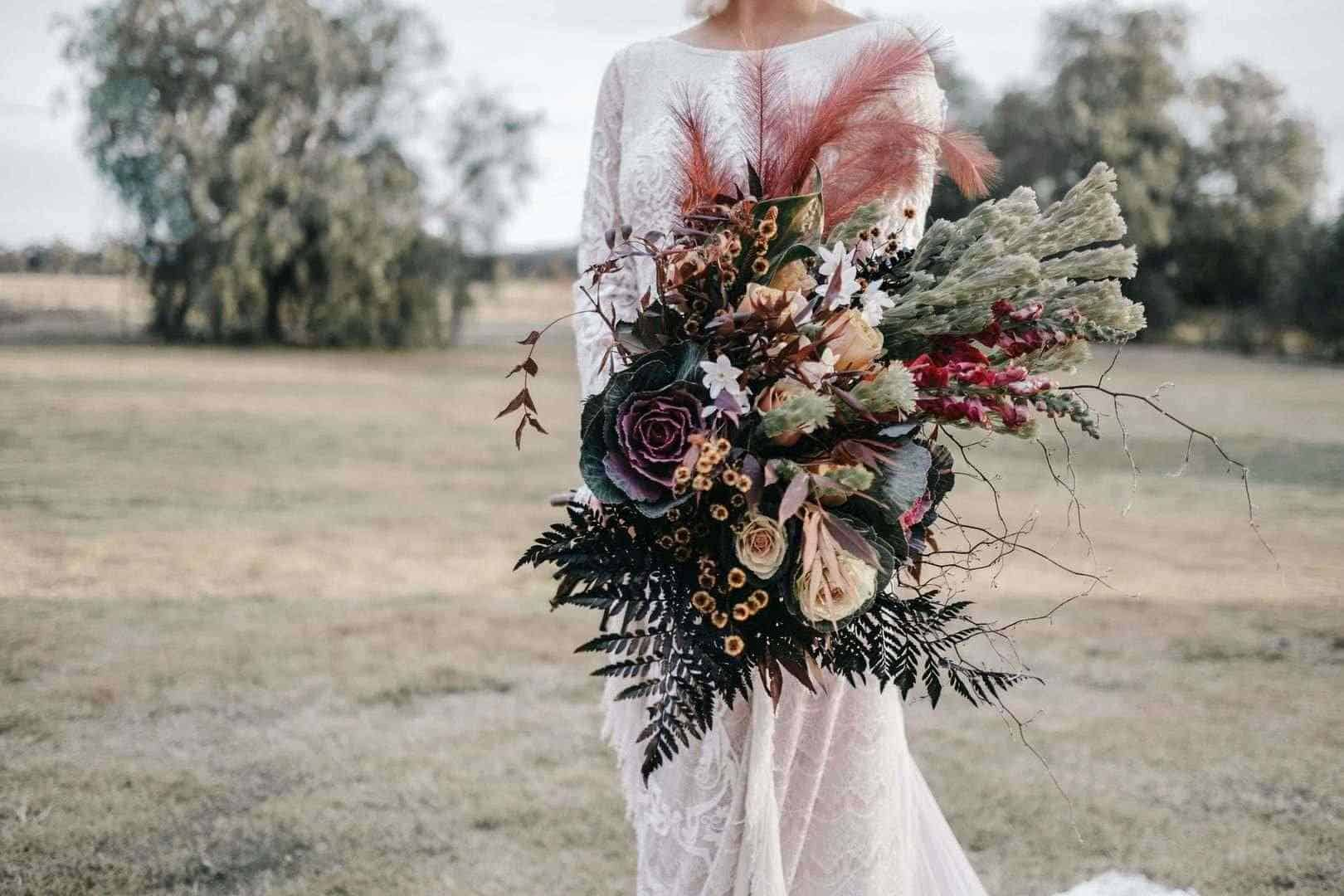 Extravagant wedding bouquet