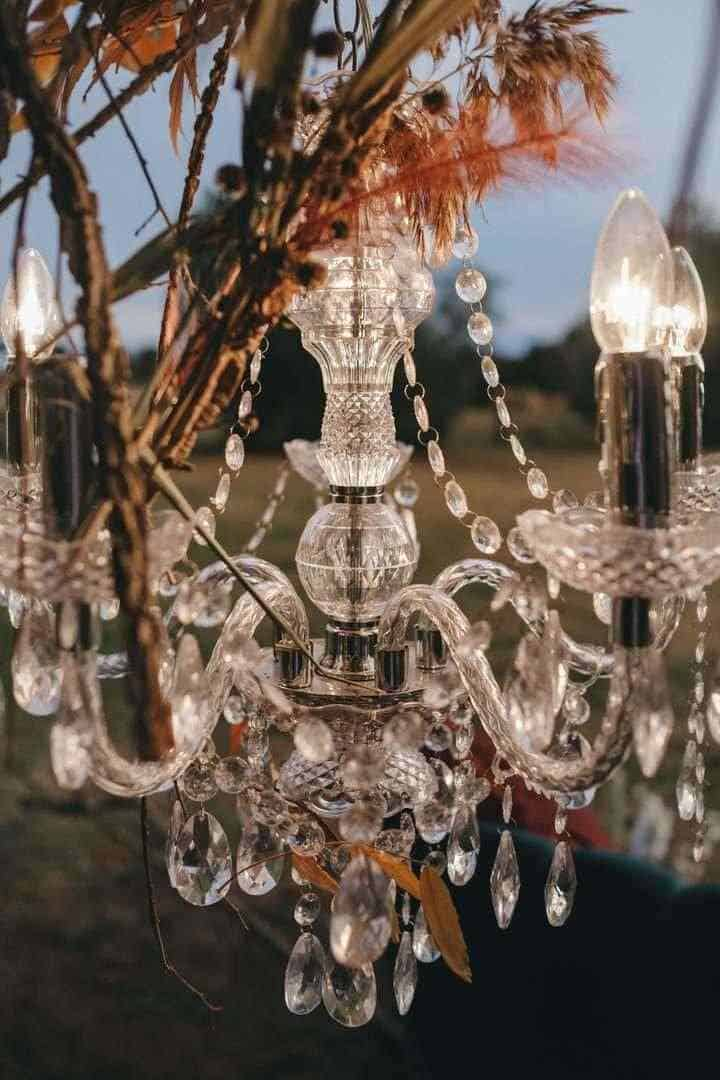 Elaborate crystal chandelier