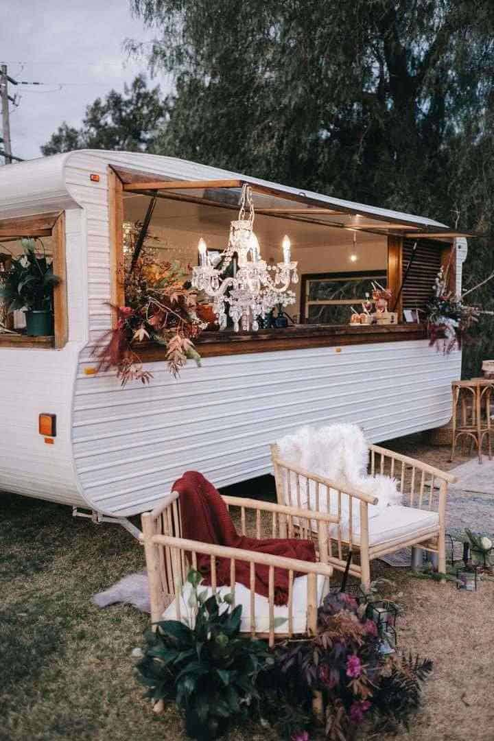 Decorated caravan